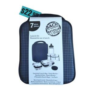 Travelway Insulated 7-Piece Lunch Box Kit
